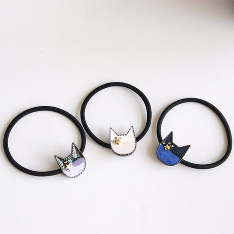 Cat's Head Rubber Hairband - catzzcorner