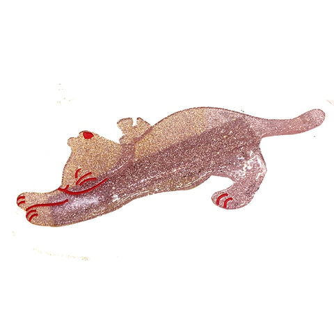 Long Cat Hariclip in RED / BROWN - catzzcorner