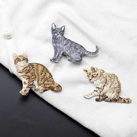 Cute Cat Patch with embroidery - catzzcorner