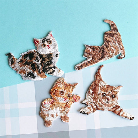 Playful Cat Patch with embroidery - catzzcorner