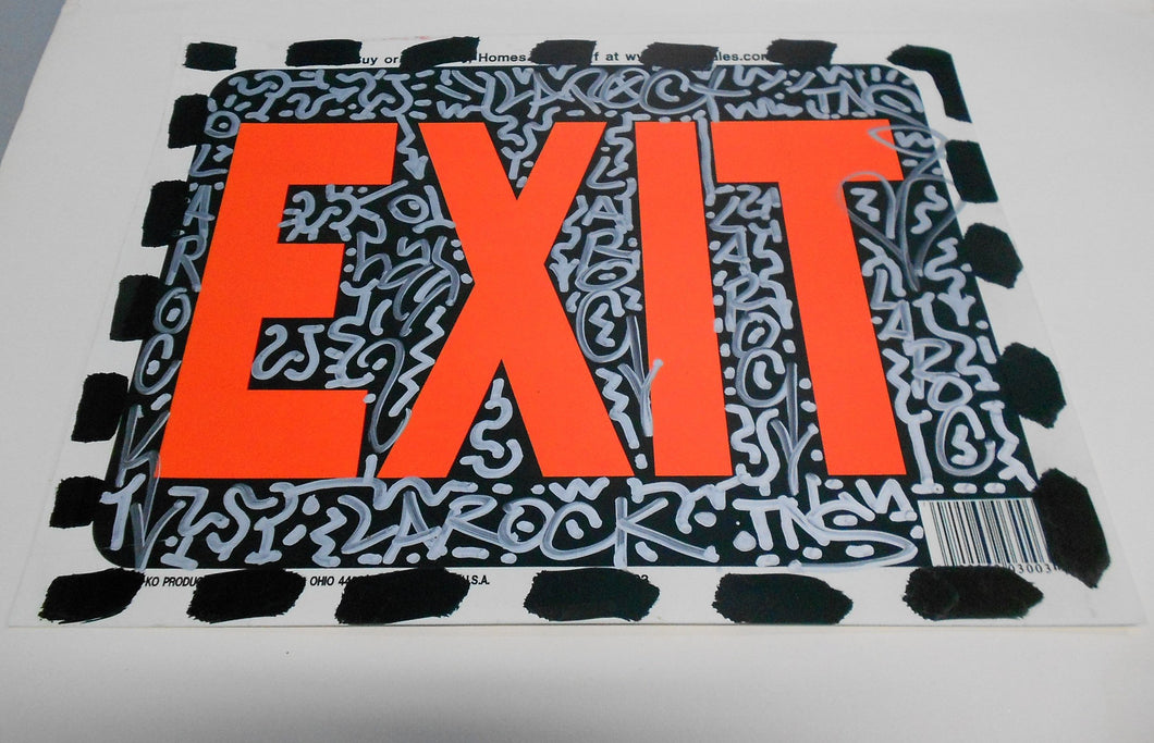 Graffiti Sign Exit by Angel Ortiz LA2 Street Art