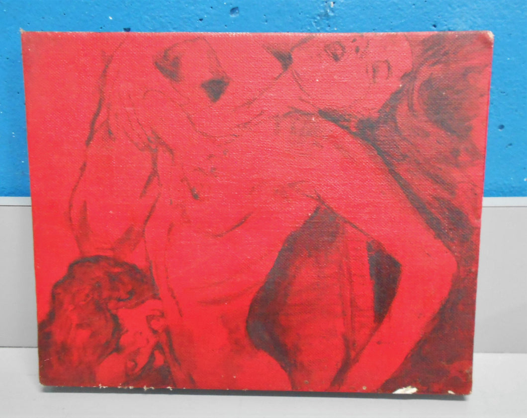 Erotic Art Lee Gordon Friendly Neighbors Acrylic on Canvas Board OOAK Original