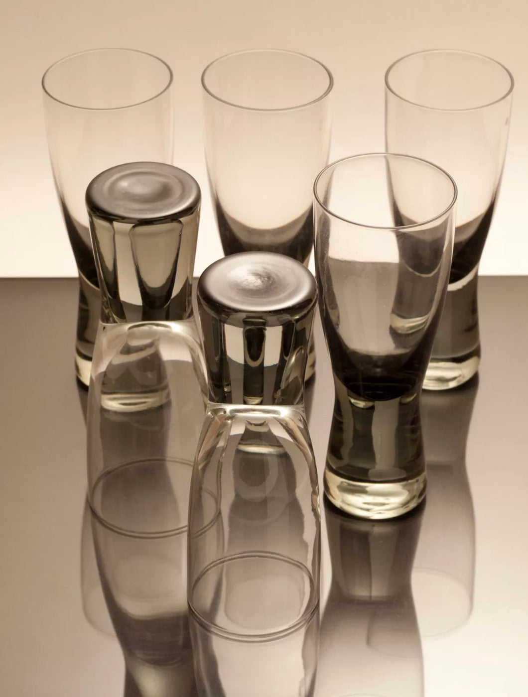 6 Holmegaard shot glasses