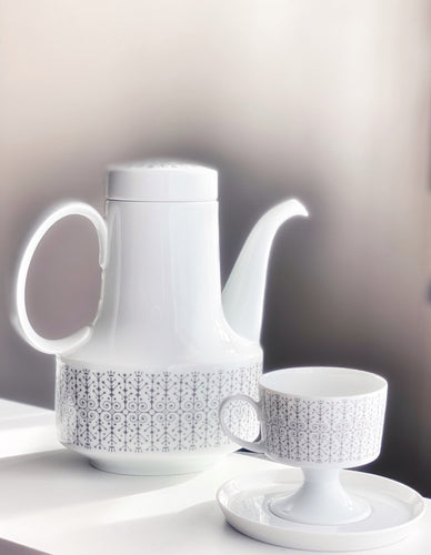 Tapio Wirkkala for Rosenthal Composition Sgrafitto Grey 6016 Tea Coffee ware 1963 Finland