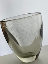Load image into Gallery viewer, Gunnel Nyman hand blown amber art glass vase. Bubble glass design 1940s