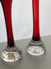 Load image into Gallery viewer, Pair of Red Bone Vase by Aseda Glasbruk on a design by Per Lütken