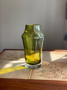 Riihimaki Green Glass Vase 1960s