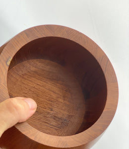 Staved Teak Bowl designed by Jens Harald Quistgaard for Dansk Design in the 1960s