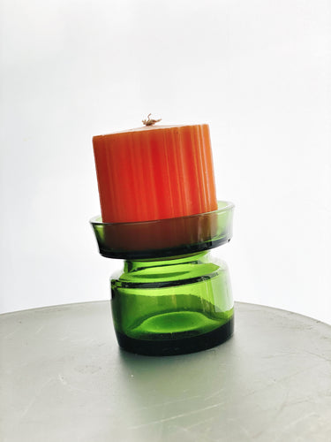 Dansk Design Candleholder with Original Candle Designed by Jens Harald Quistgaard for Dansk Design in the 1960s.