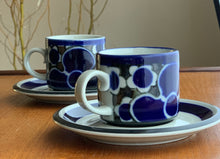 Load image into Gallery viewer, Arabia Finland Saara Pattern Coffee Cup with Saucer, Designed By Anja Jaatinen-Winquist