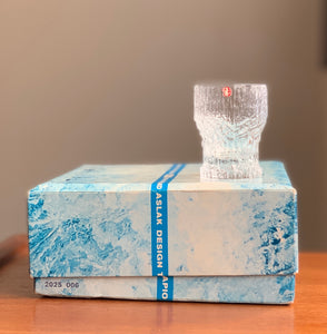 Vintage Iittala Finland Aslak shot glasses, designed by Tapio Wirkkala in 1970s