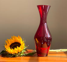 Load image into Gallery viewer, Elme Glasbruk Red Glass Vase