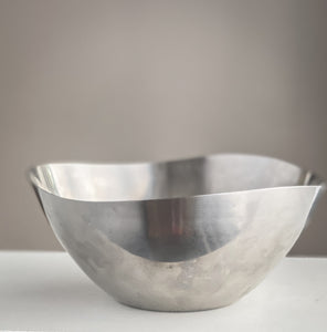 Danish Fruit Bowl in Stainless Steel Organic Form