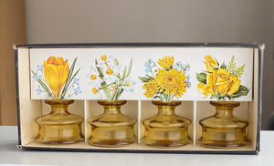 Dansk Design 'Inkwell' Candleholders / Bud Vases presentation box inc Candles