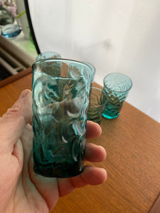 Beautiful kingfisher blue bark effect tumblers