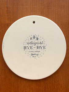Vintage Bjørn Wiinblad Bye-Bye August plate For Nymolle Denmark *15% Discount Available