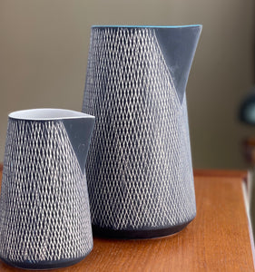 Contemporary Dutch pottery jugs produced in Holland by The Rikki Tikki Co and part of the Just range of design.