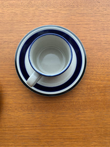Arabia Finland Saara Pattern Coffee Cup with Saucer, Designed By Anja Jaatinen-Winquist