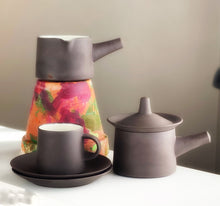 Load image into Gallery viewer, Very rare coffee set  in Smooth Flamestone Dansk Designs 1964