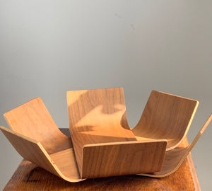 Scandinavian Design Oak Lilly Bowl By BEdesign Made in Finland