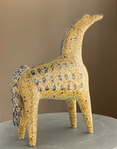 Alfaraz Ceramica Horse | Art Pottery | Made in Spain | Rare Piece | Modernist Style | 1960s | Mid Century Art | Ceramic Art