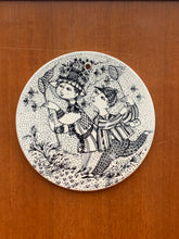 Load image into Gallery viewer, Vintage Bjørn Wiinblad Bye-Bye August plate For Nymolle Denmark *15% Discount Available