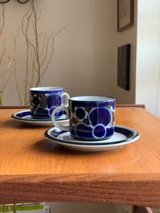 Arabia Finland Saara Pattern Coffee Set  Designed By Anja Jaatinen-Winquist