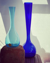 Load image into Gallery viewer, Eneryda of Sweden: Blue Glass Vase Arthur Percy 1950s