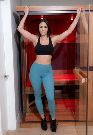 Load image into Gallery viewer, SOLD OUT - AQUA LUQUID LEGGINGS