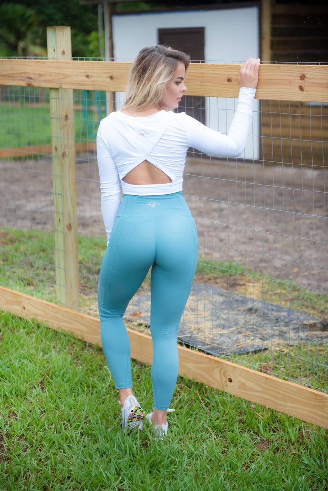 SOLD OUT - AQUA LUQUID LEGGINGS
