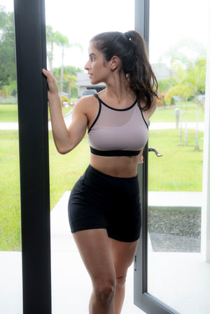 HIGH SUPPORT MESH SPORTS BRA