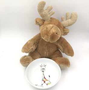 Assiette creuse en porcelaine Girafe Gourmande Germaine