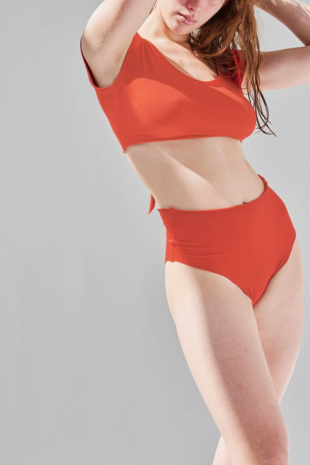 Marina Red Ack Swimwear