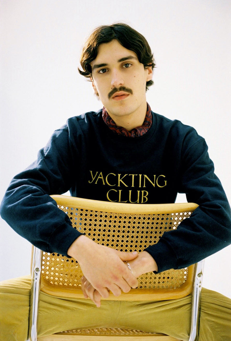 Crew Neck YC Gold Embroidered