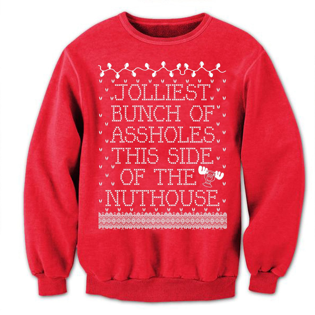Christmas Vacation Sweaters.Jolliest Bunch Of Assholes Christmas Vacation Sweater Ugly