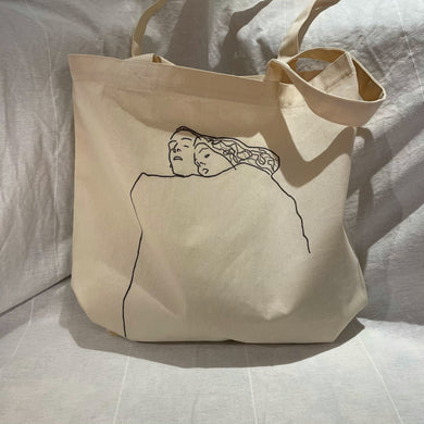 Sleeping Couple Tote Bag - BST - shopbst.net