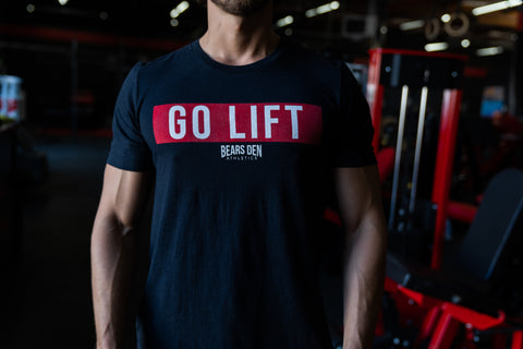 """GO LIFT"" Black Triblend Tee"