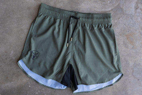 Athletic Fit Training Shorts - OD Green