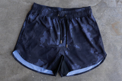 Charcoal Camo Training Shorts - Athletic Fit