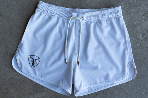 Women's White Training Shorts