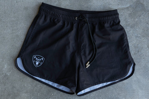 Women's Black Training Shorts