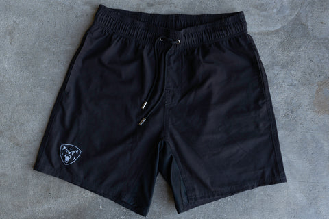 Black Training Shorts - Regular Fit