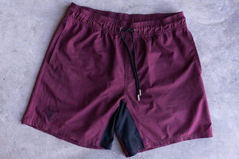 Maroon Training Shorts - Regular Fit