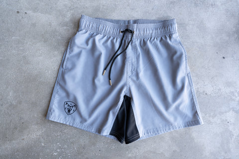 Regular Fit Training Shorts - Light Grey