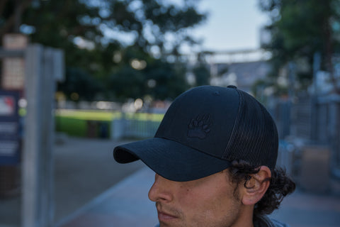 Black/Black Trucker Hat