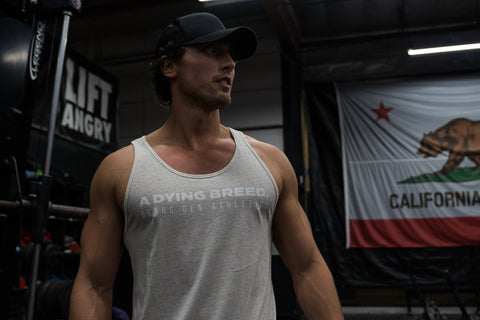 """A DYING BREED"" Oatmeal Jersey Triblend Tank"
