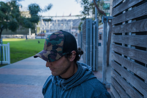 Camo/Black Trucker Hat