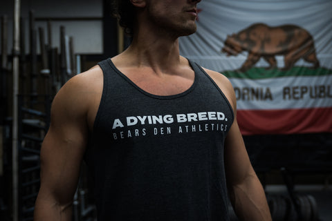"""A DYING BREED"" Dark Grey Heather Jersey Tank Top"