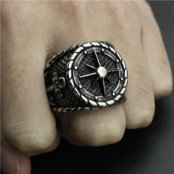 The Savvy Rudder Ring -Stainless Steel-  Inspired by Johnny Depp