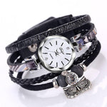 Johnny Depp Style Leather Bracelet Fashion Watch, Owl - Womens